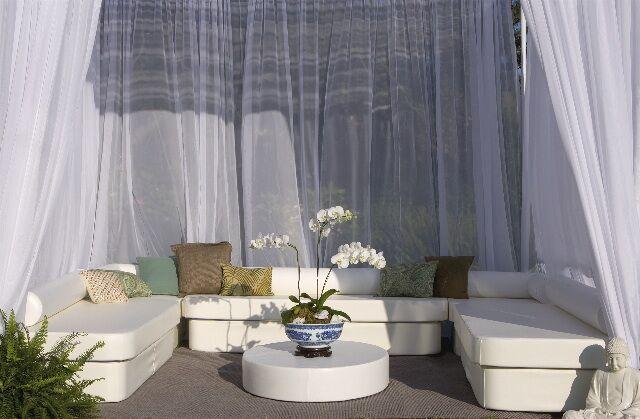 Zen Cabana 14 Piece Sectional Set Fabric: Silver Pixel