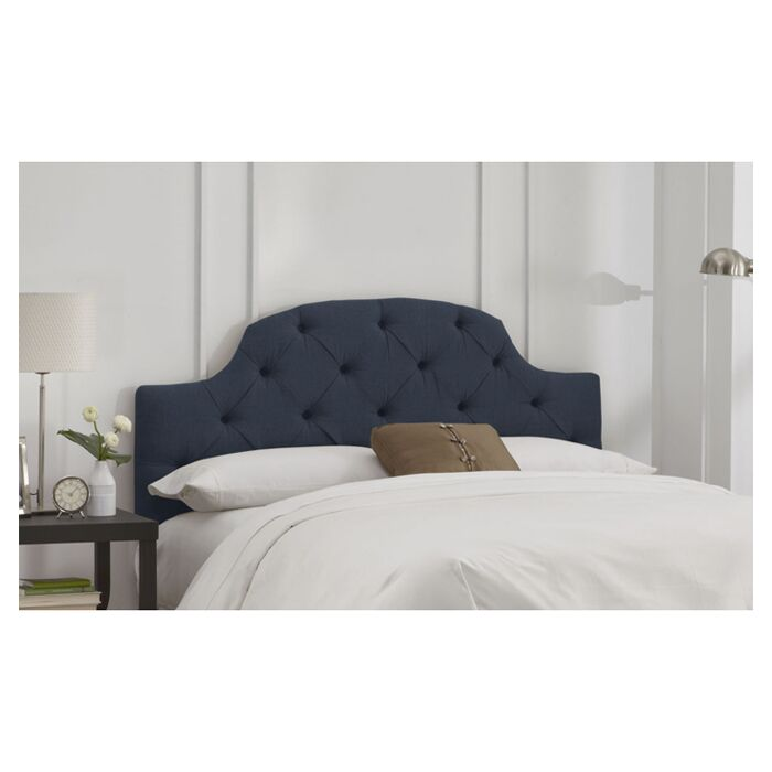 Tufted Upholstered Panel Headboard Size: California King, Color: Navy