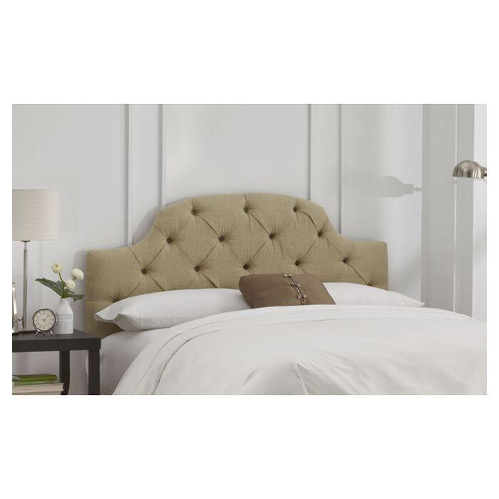 Tufted Upholstered Panel Headboard Size: Full, Color: Sandstone
