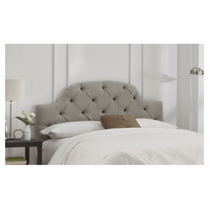 Tufted Upholstered Panel Headboard Size: California King, Color: Grey