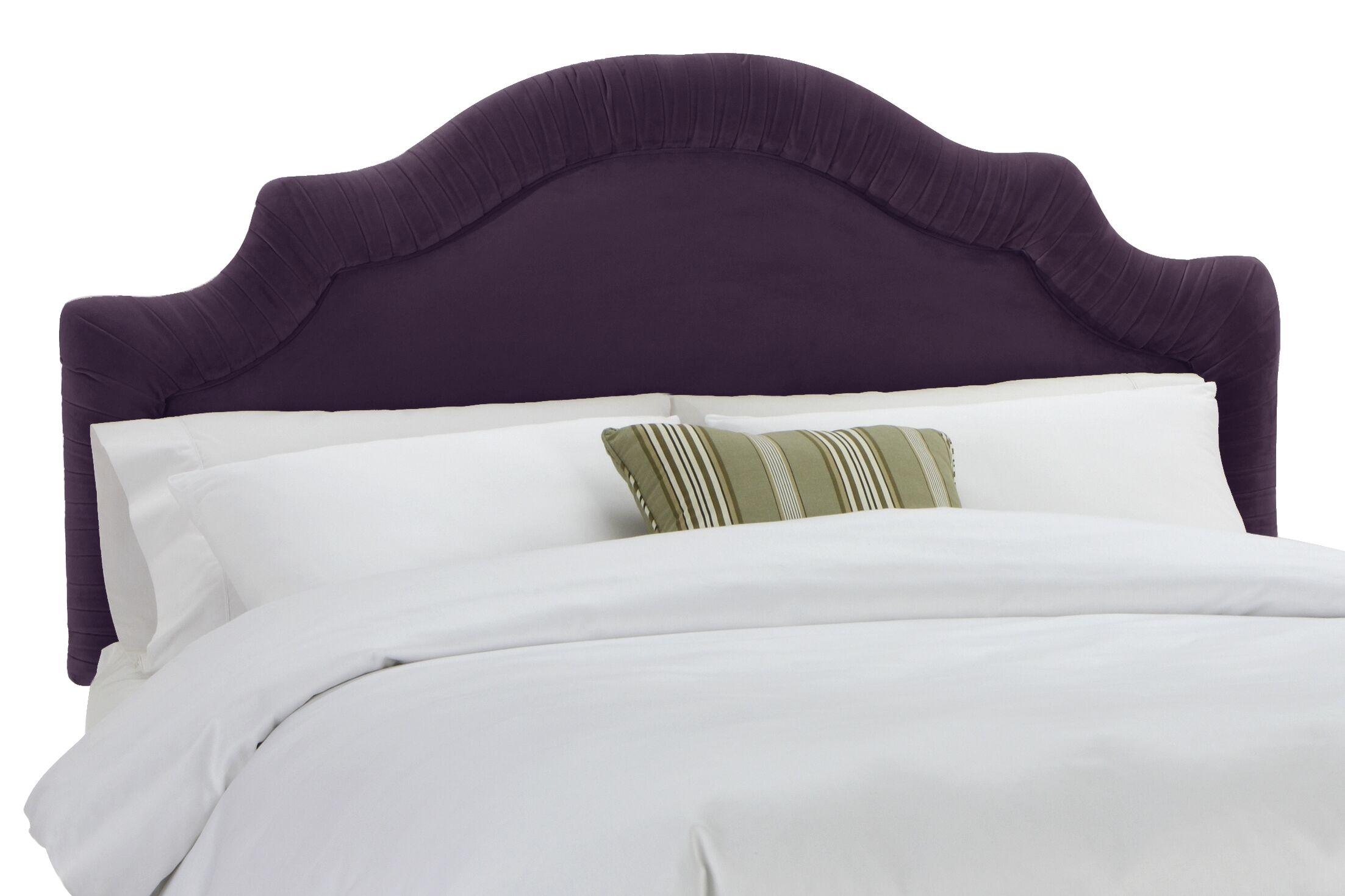 Arc Upholstered Panel Headboard Size: California King, Upholstery: Velvet Aubergine