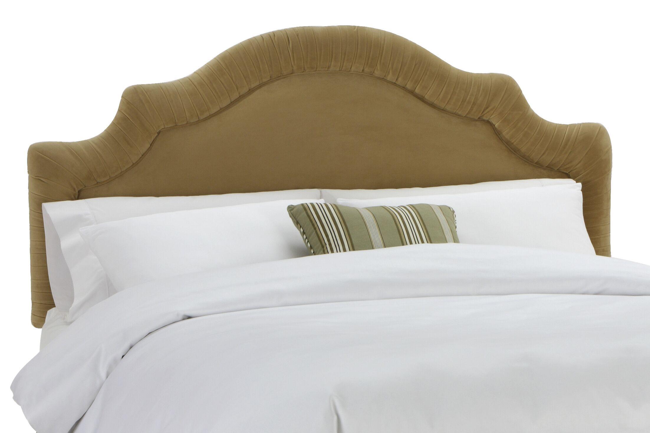 Arc Upholstered Panel Headboard Size: King, Upholstery: Velvet Honey