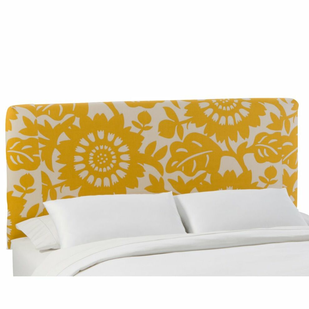 Slip Cover Gerber Upholstered Panel Headboard Size: Full, Color: Gerber Sungold