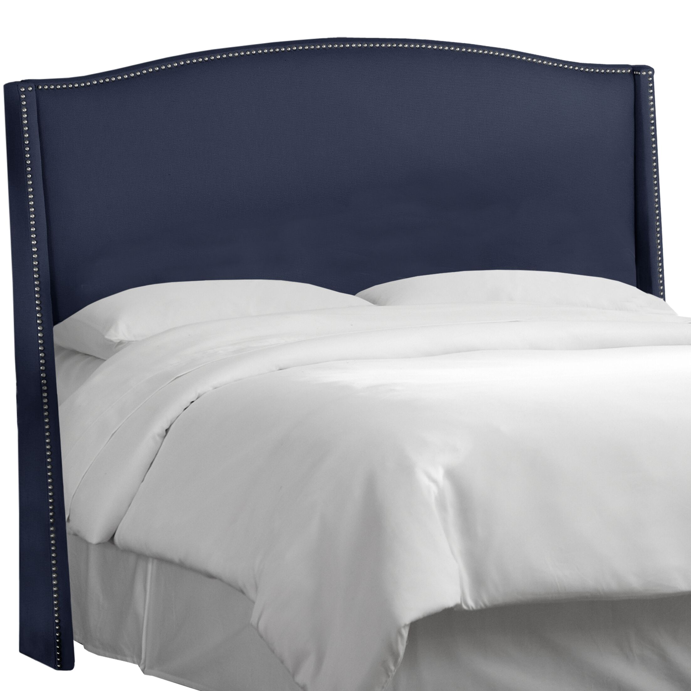 Patriot Upholstered Wingback Headboard Size: Queen