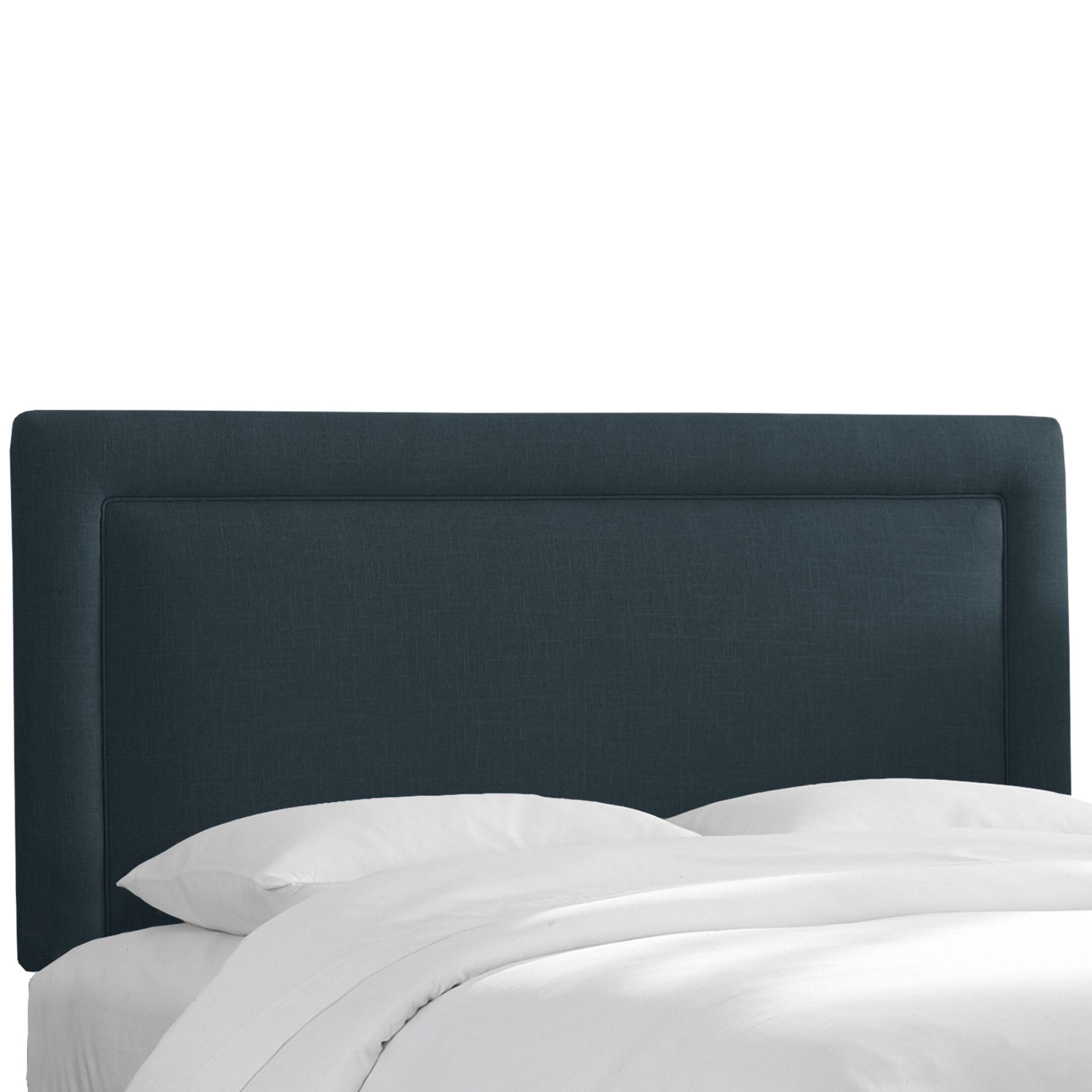 Chambers Upholstered Panel Headboard Size: Twin, Upholstery: Navy