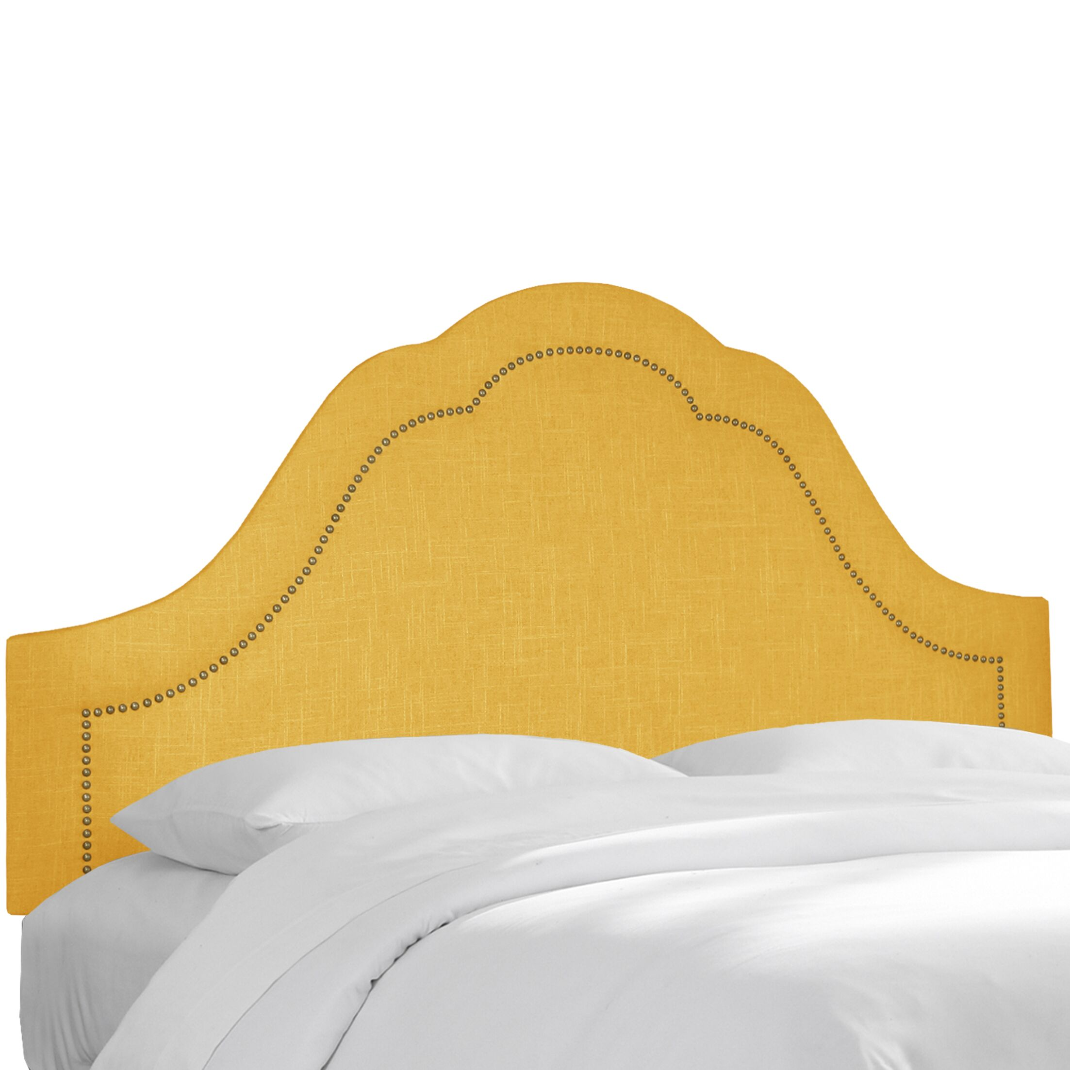 Upholstered Panel Headboard Upholstery: French Yellow, Size: Queen