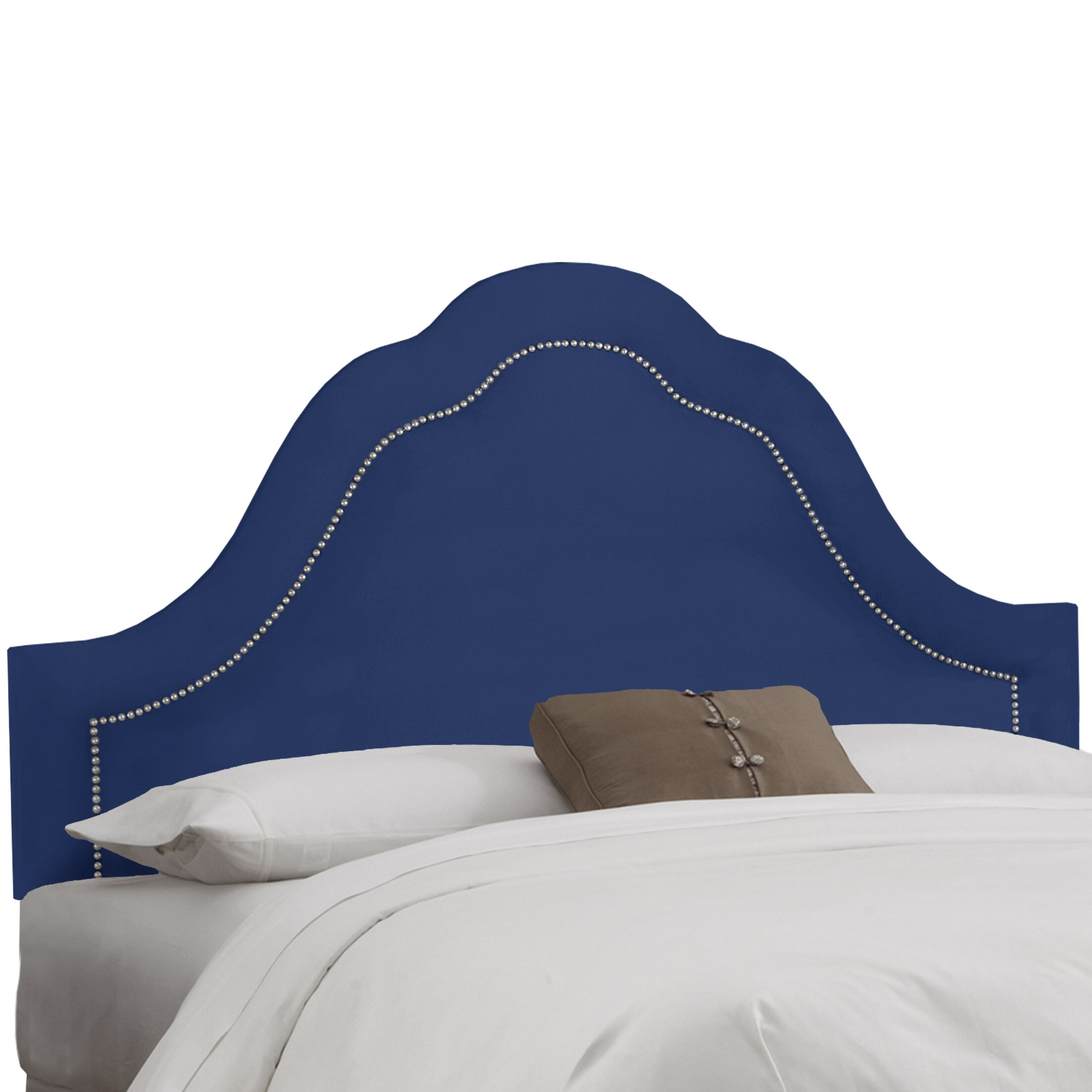 Upholstered Panel Headboard Upholstery: White, Size: King