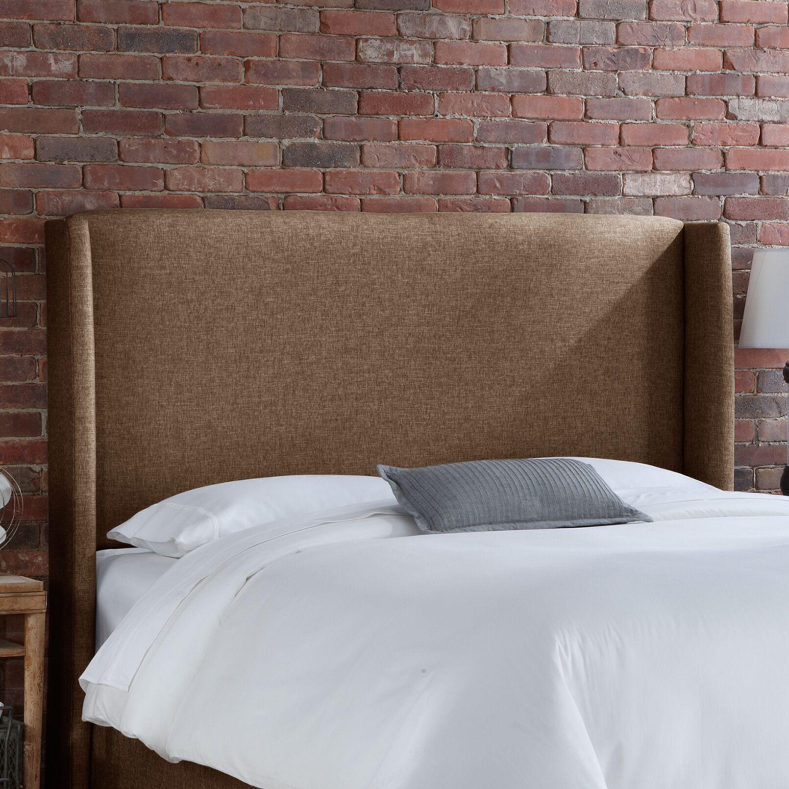 Wingback Upholstered Headboard Size: Full, Upholstery: Groupie Praline