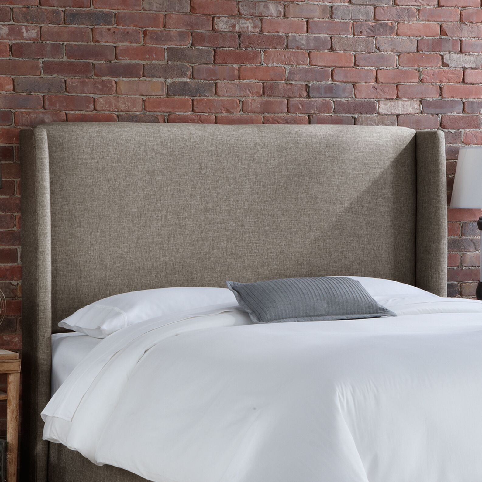 Wingback Upholstered Headboard Size: Queen, Upholstery: Groupie Gunmetal