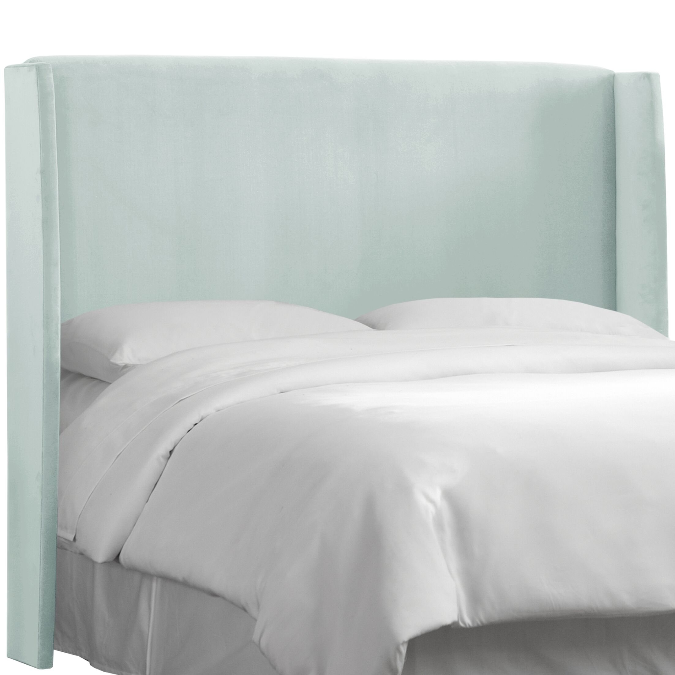 Wingback Upholstered Headboard Size: California King, Color: Pearl