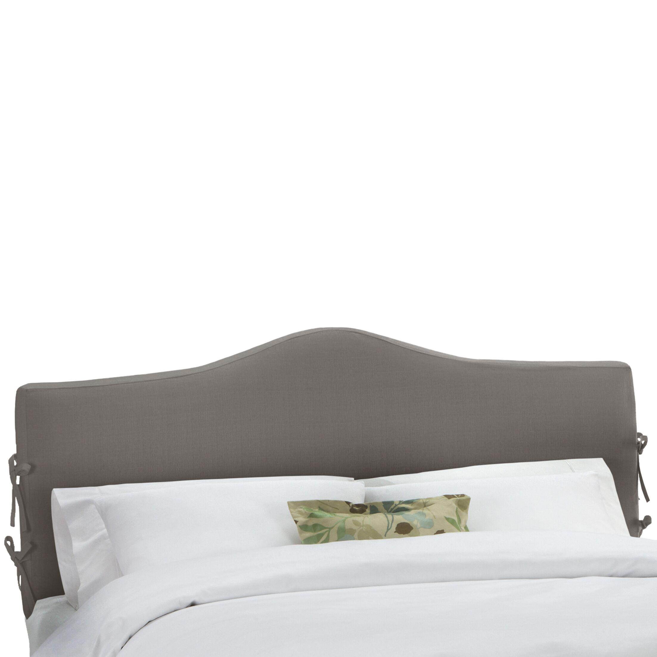 Slip Cover Upholstered Panel Headboard Size: King, Upholstery: Natural