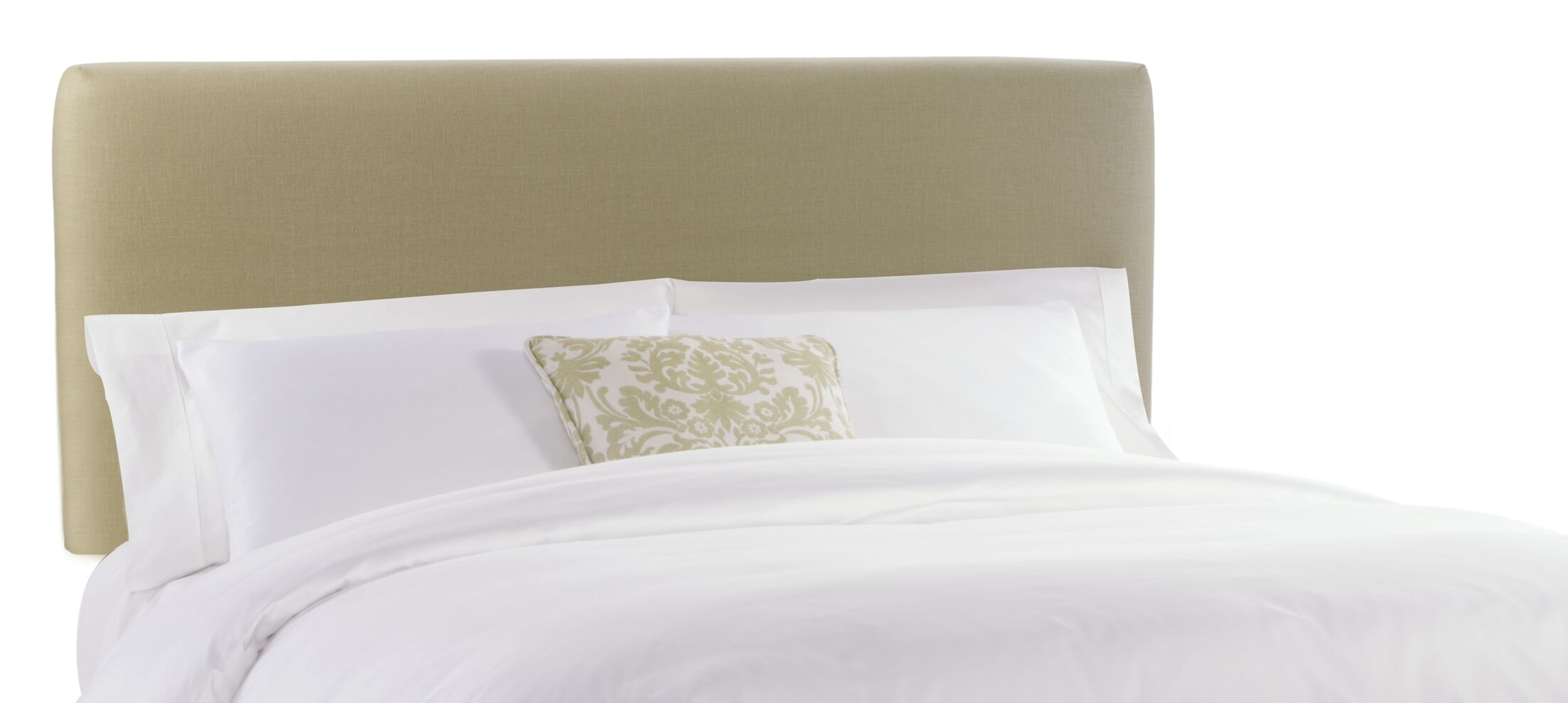 Slip Cover Upholstered Panel Headboard Color: Sandstone, Size: Full