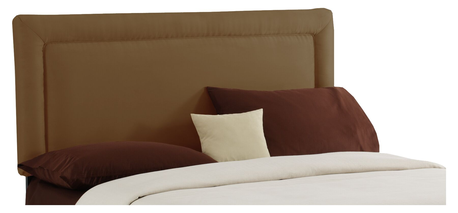 Border Upholstered Panel Headboard Size: Queen, Color: Khaki