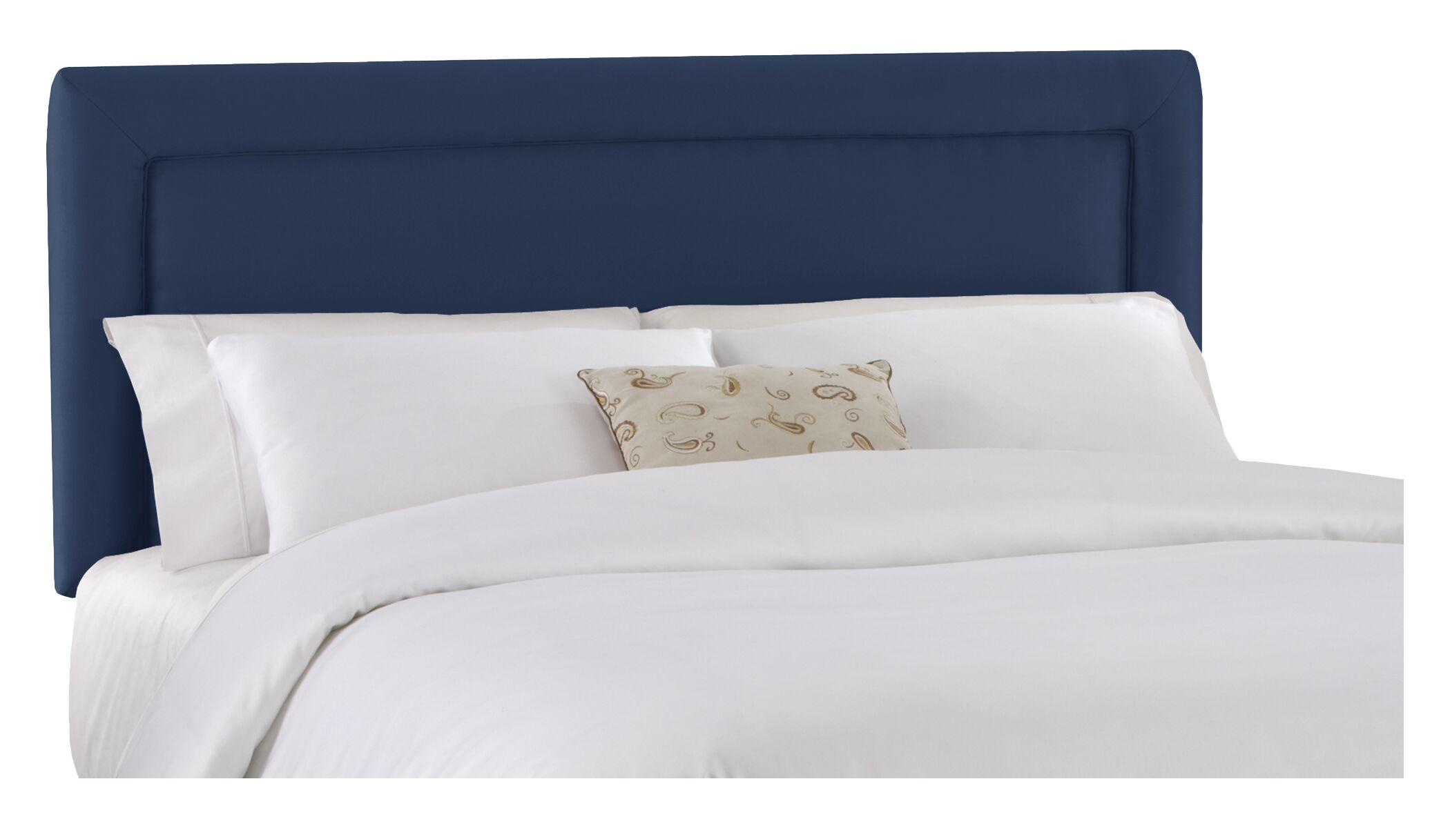 Border Upholstered Panel Headboard Size: California King, Color: Lazuli