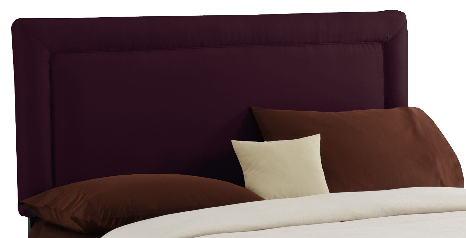 Border Upholstered Panel Headboard Size: Queen, Color: Purple