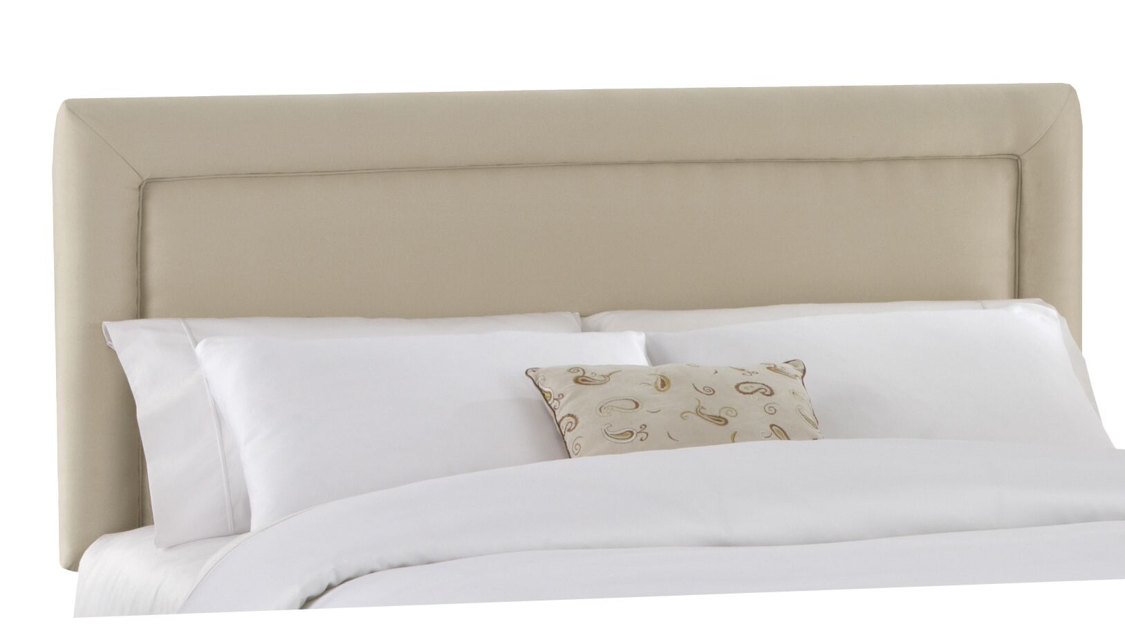 Border Upholstered Panel Headboard Size: Queen, Color: Oatmeal