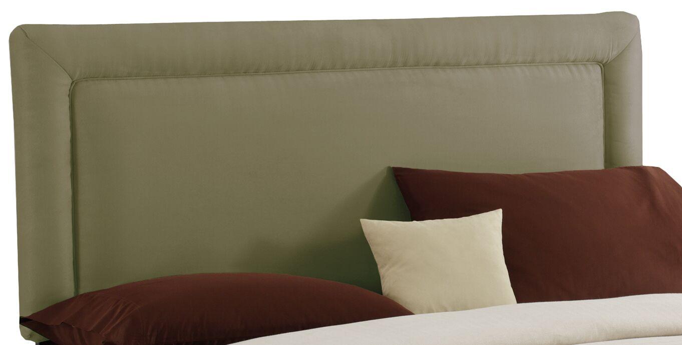 Border Upholstered Panel Headboard Size: King, Color: Sage