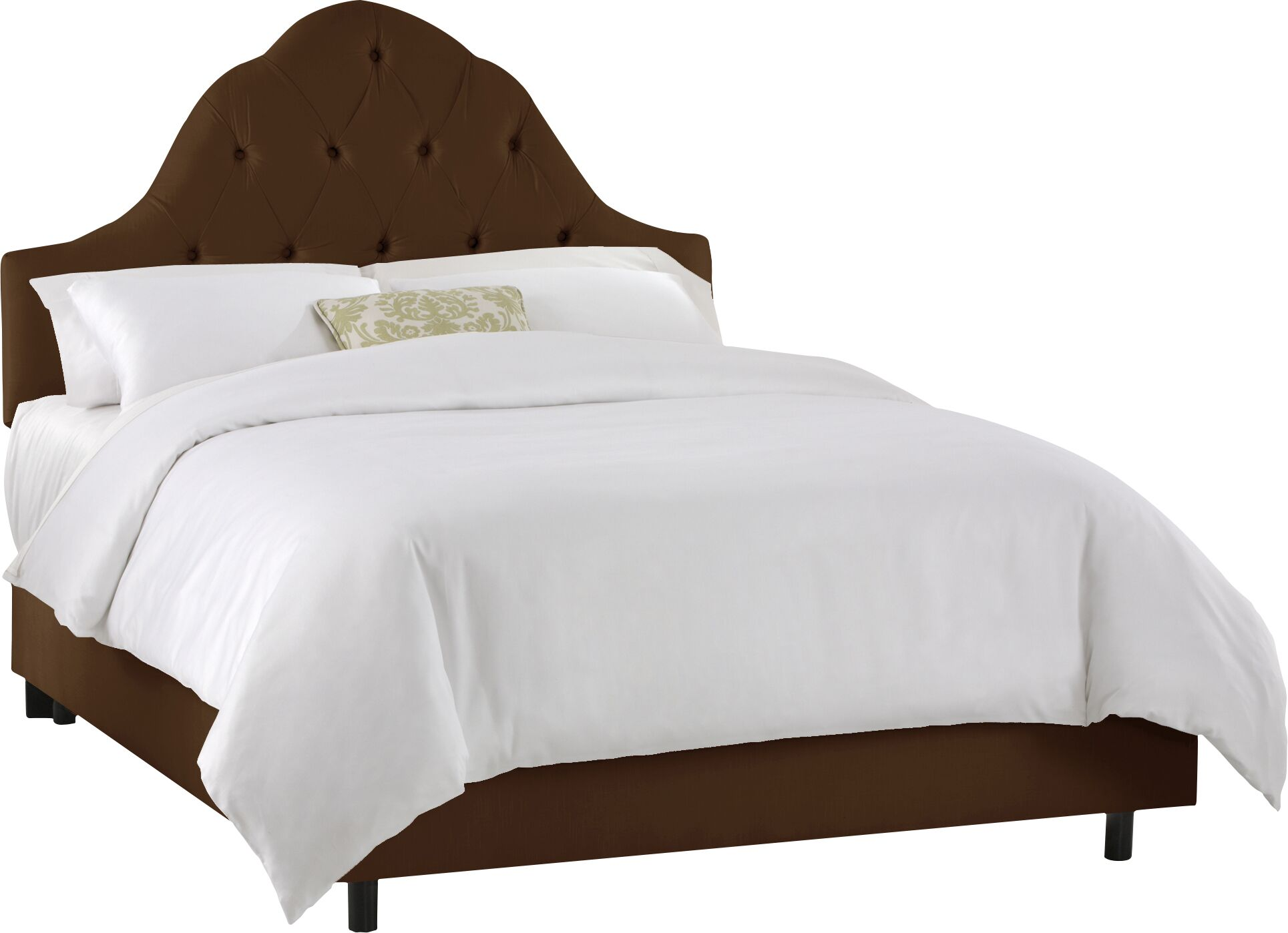 Tufted High Arch Panel Bed Size: Queen