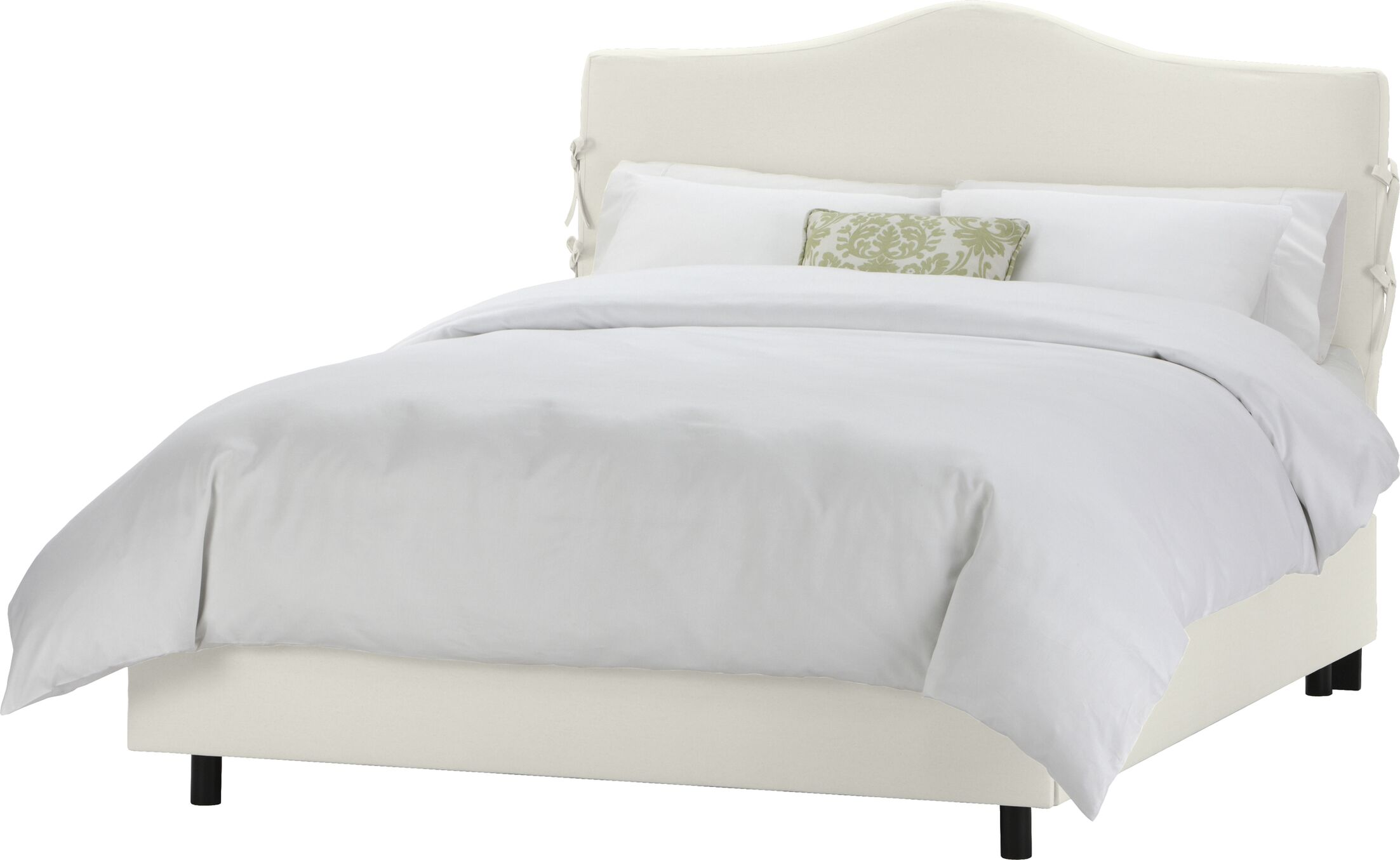 Slip Cover Upholstered Panel Bed Size: King, Color: White
