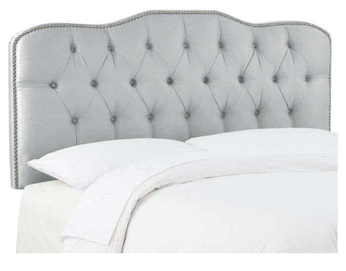 Carnaby Tufted Shantung Upholstered Headboard Size: Queen