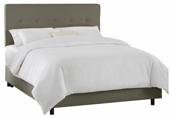Marcy Tufted Upholstered Panel Bed Size: King, Color: Gray