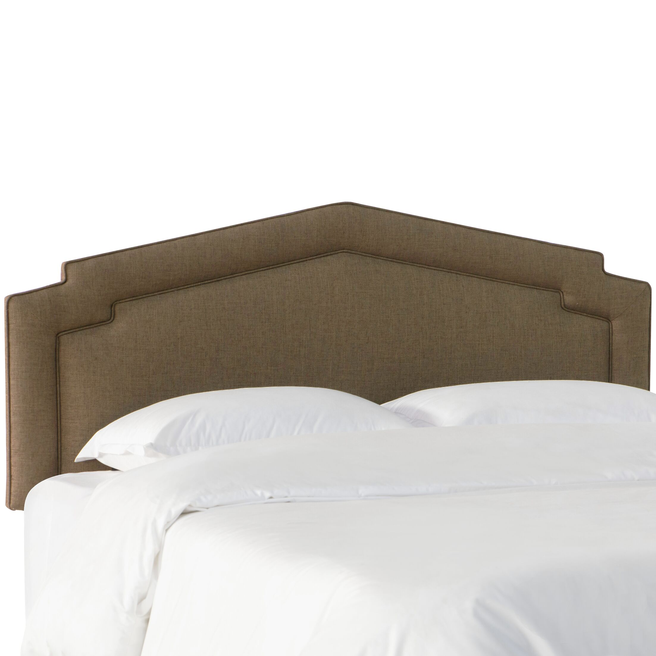 Thao Notched Upholstered Panel Headboard Size: King