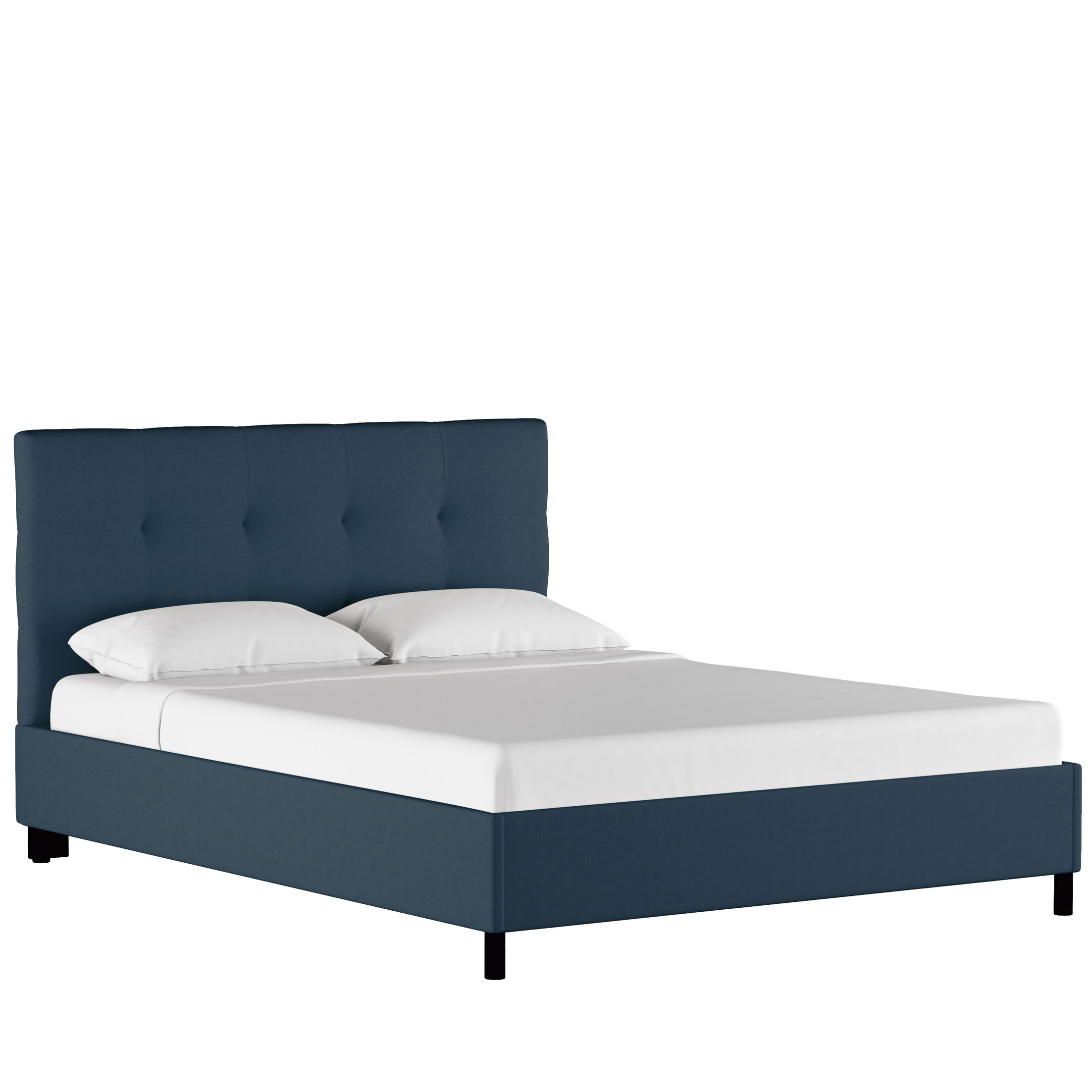 Bill Upholstered Panel Bed Size: King, Color: Zuma Navy