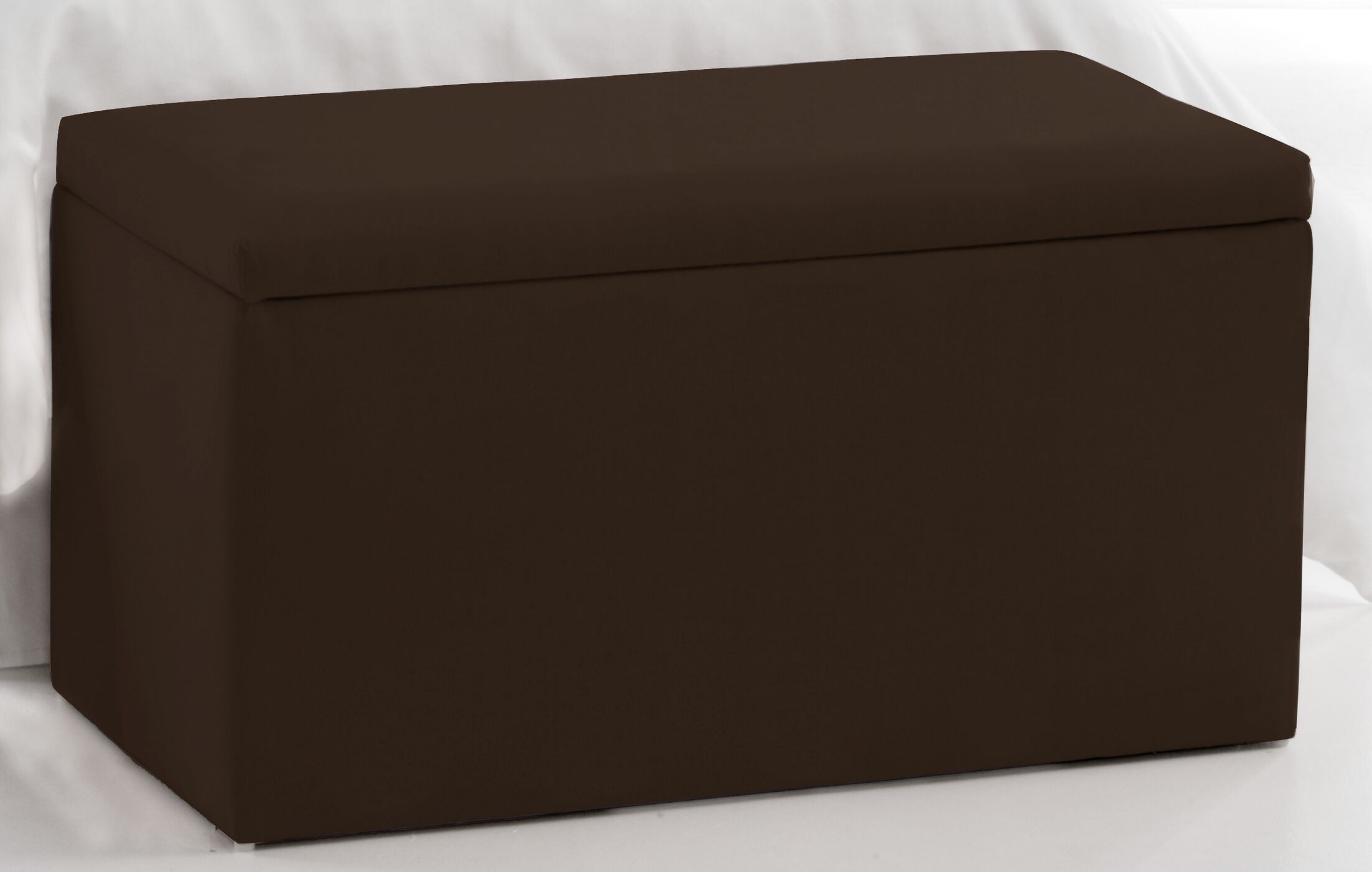 Storage Ottoman Upholstery: Chocolate