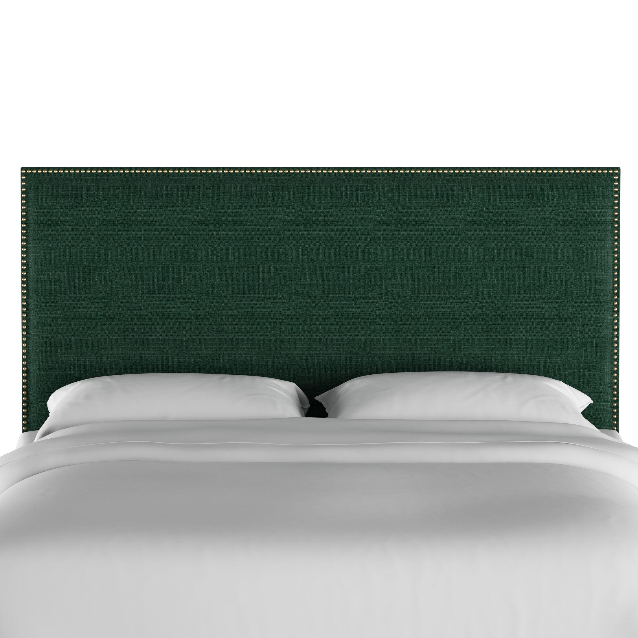 Gard Nail Button Border Upholstered Panel Headboard Size: Queen