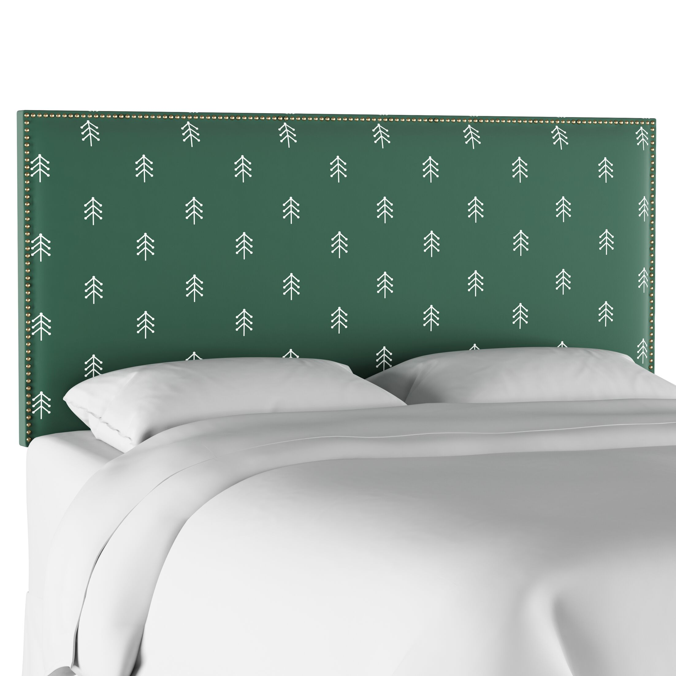 Radle Nail Button Border Upholstered Panel Headboard Size: King