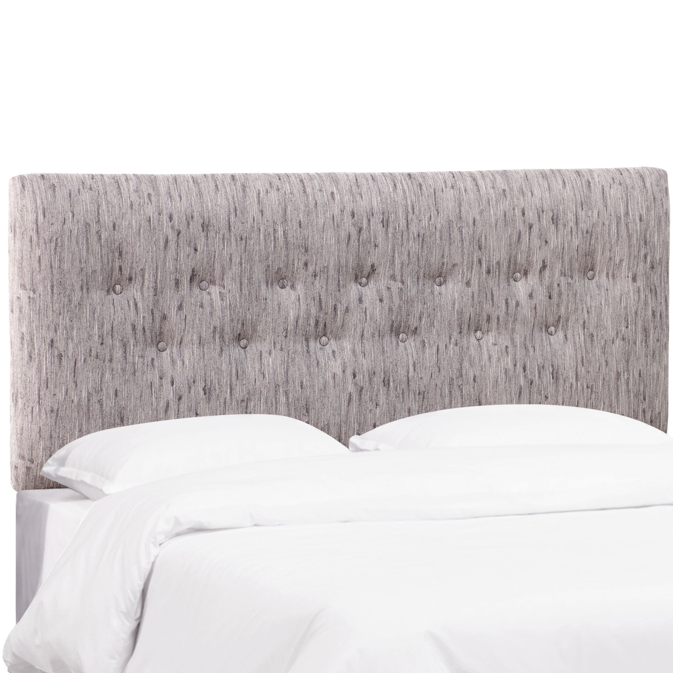 Cimino Button Upholstered Panel Headboard Size: California King, Color: Bronson Smokey Lavender