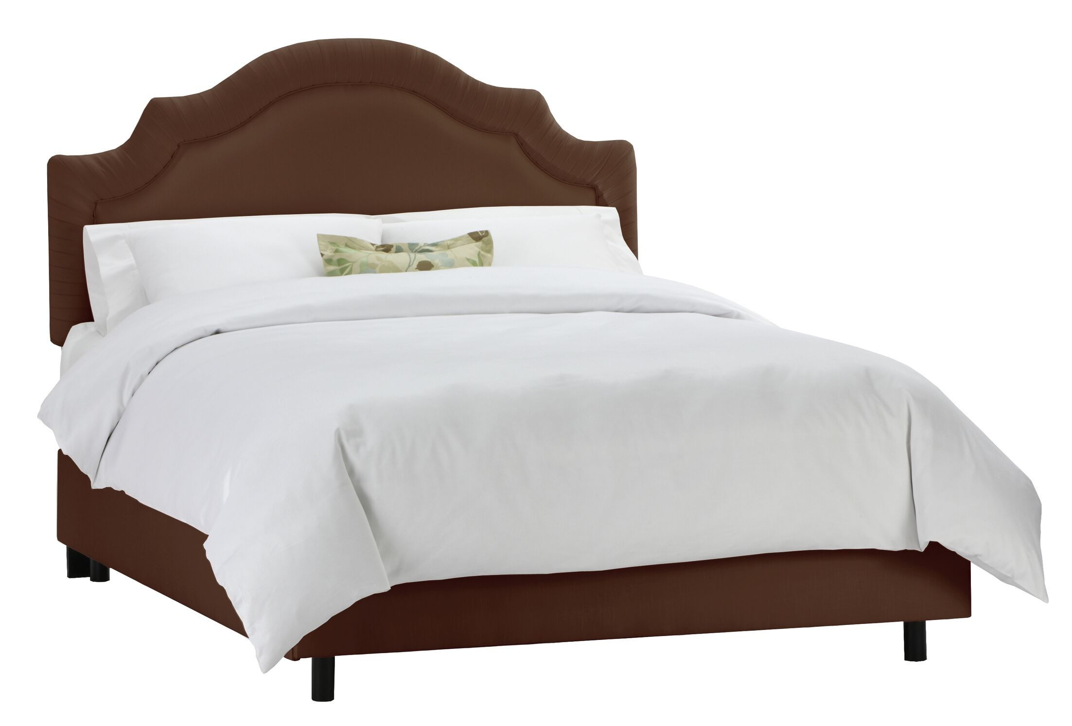 Tufted Arch Upholstered Panel Bed Size: Queen, Color: Chocolate