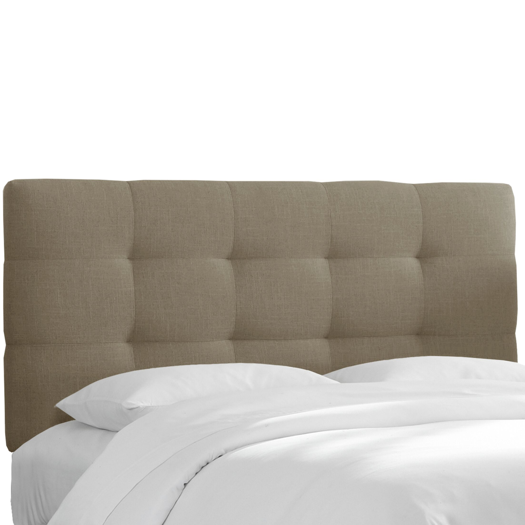 Claudia Upholstered Headboard in Linen Gray Size: California King