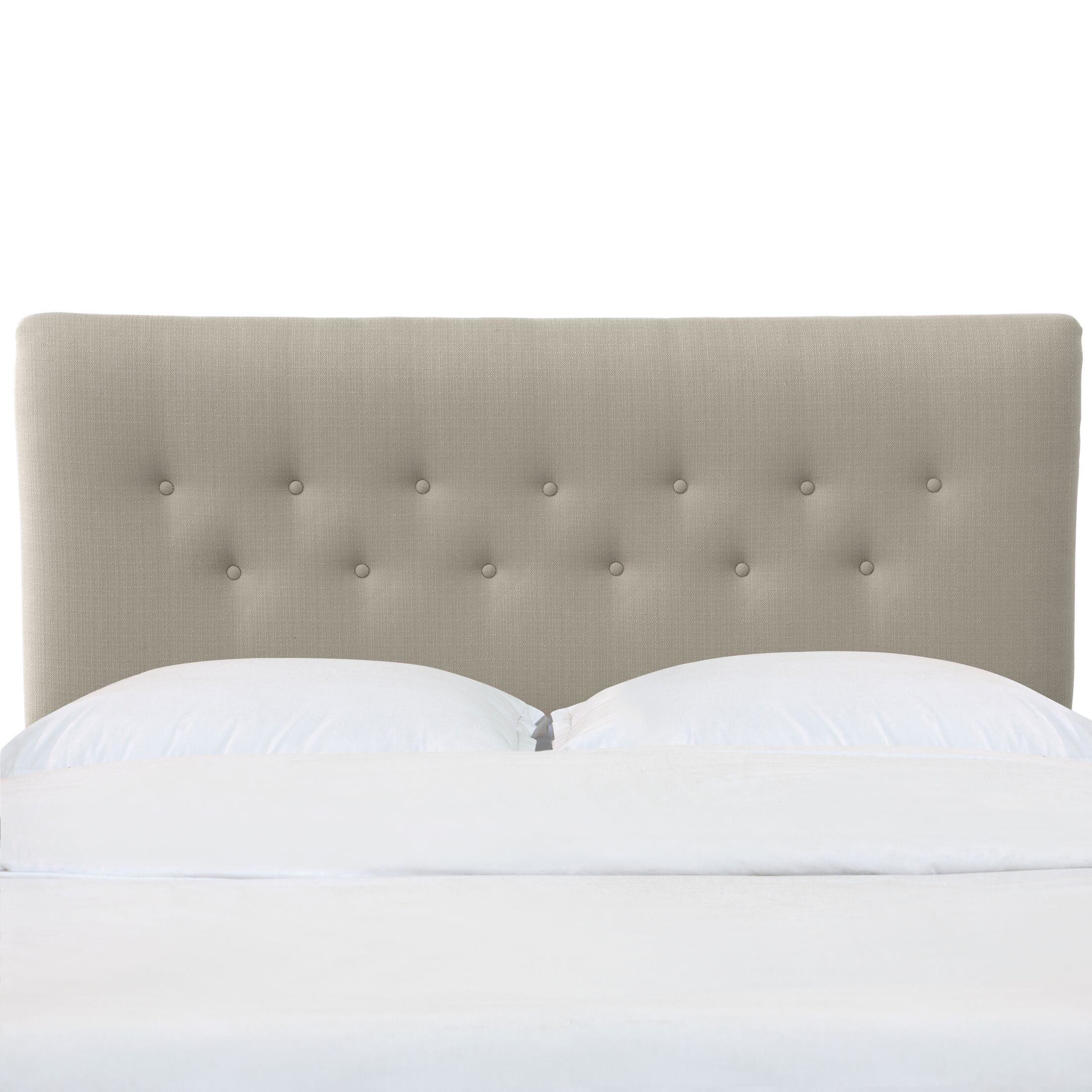 Aoife Button Tufted California King Upholstered Panel Headboard Color: Dove, Size: California King
