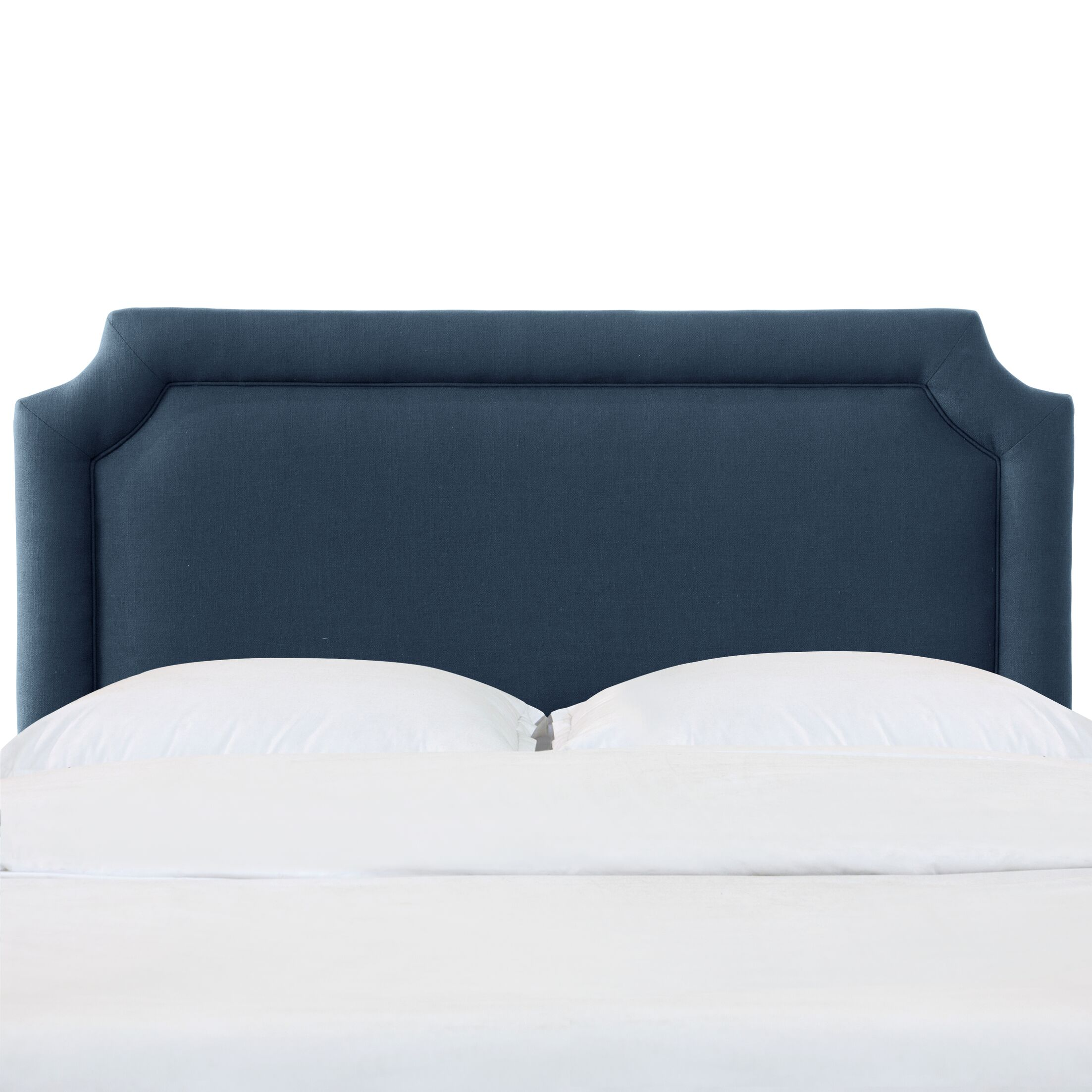 Schmitt Notched California King Upholstered Panel Headboard Color: Navy, Size: Queen
