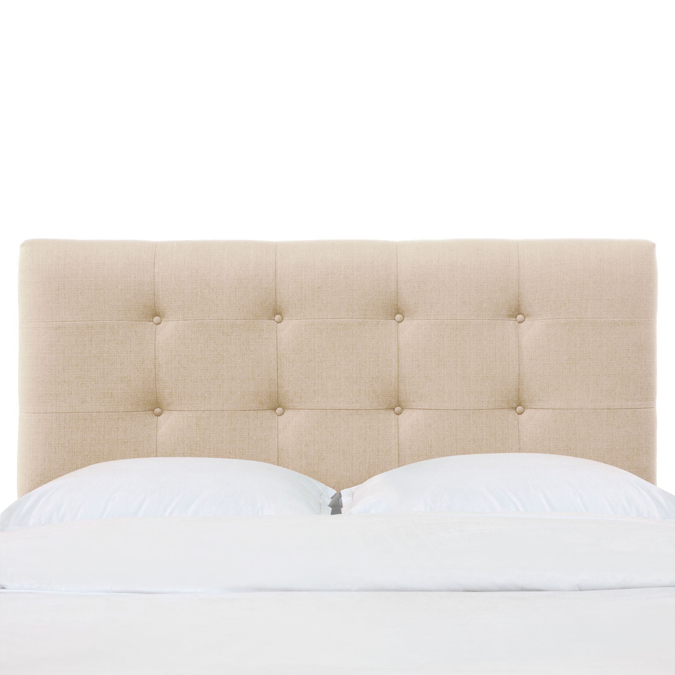 Aphrodite California King Upholstered Panel Headboard Color: Ivory, Size: Twin