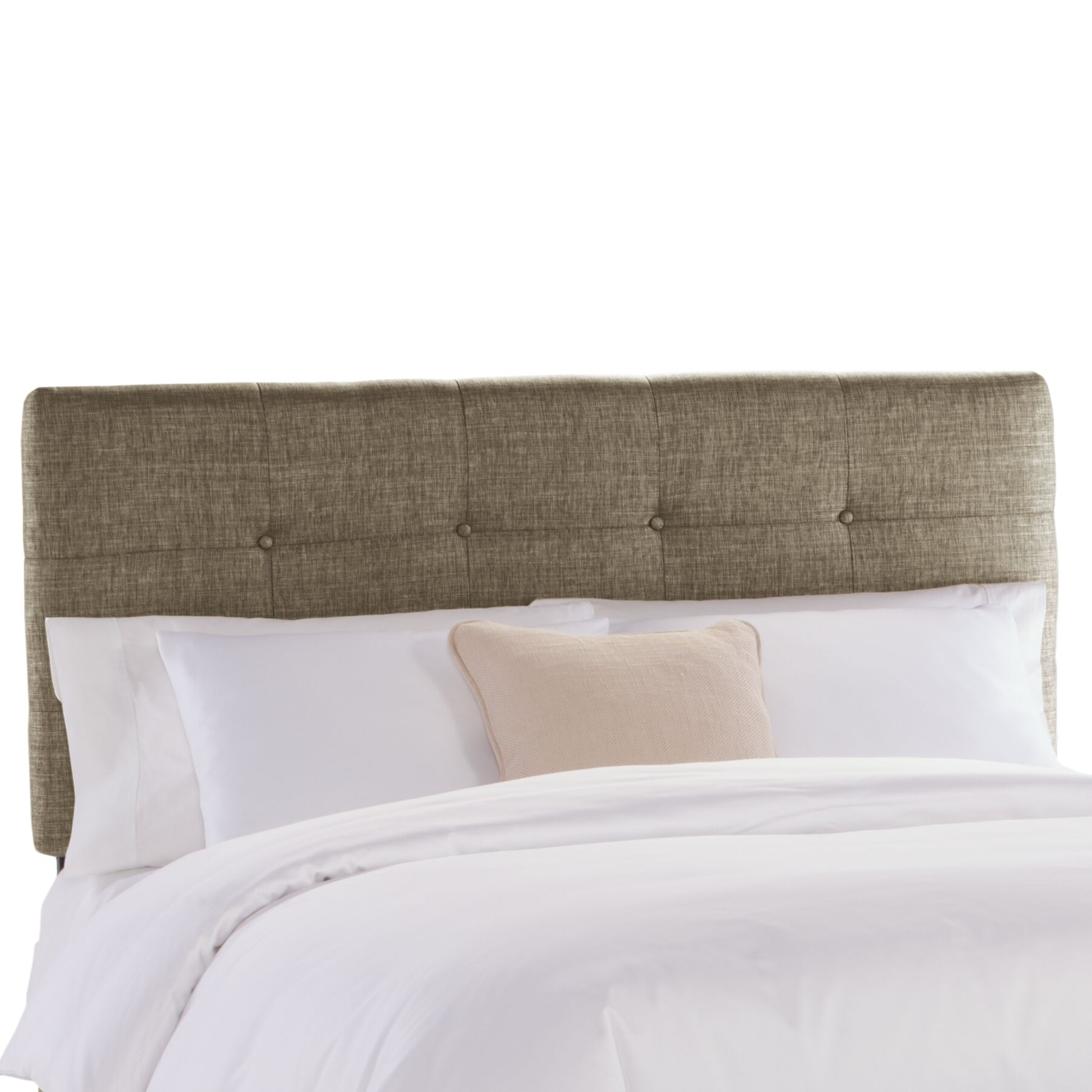 Tufted Upholstered Panel Headboard Upholstery: Groupie Gunmetal, Size: California King