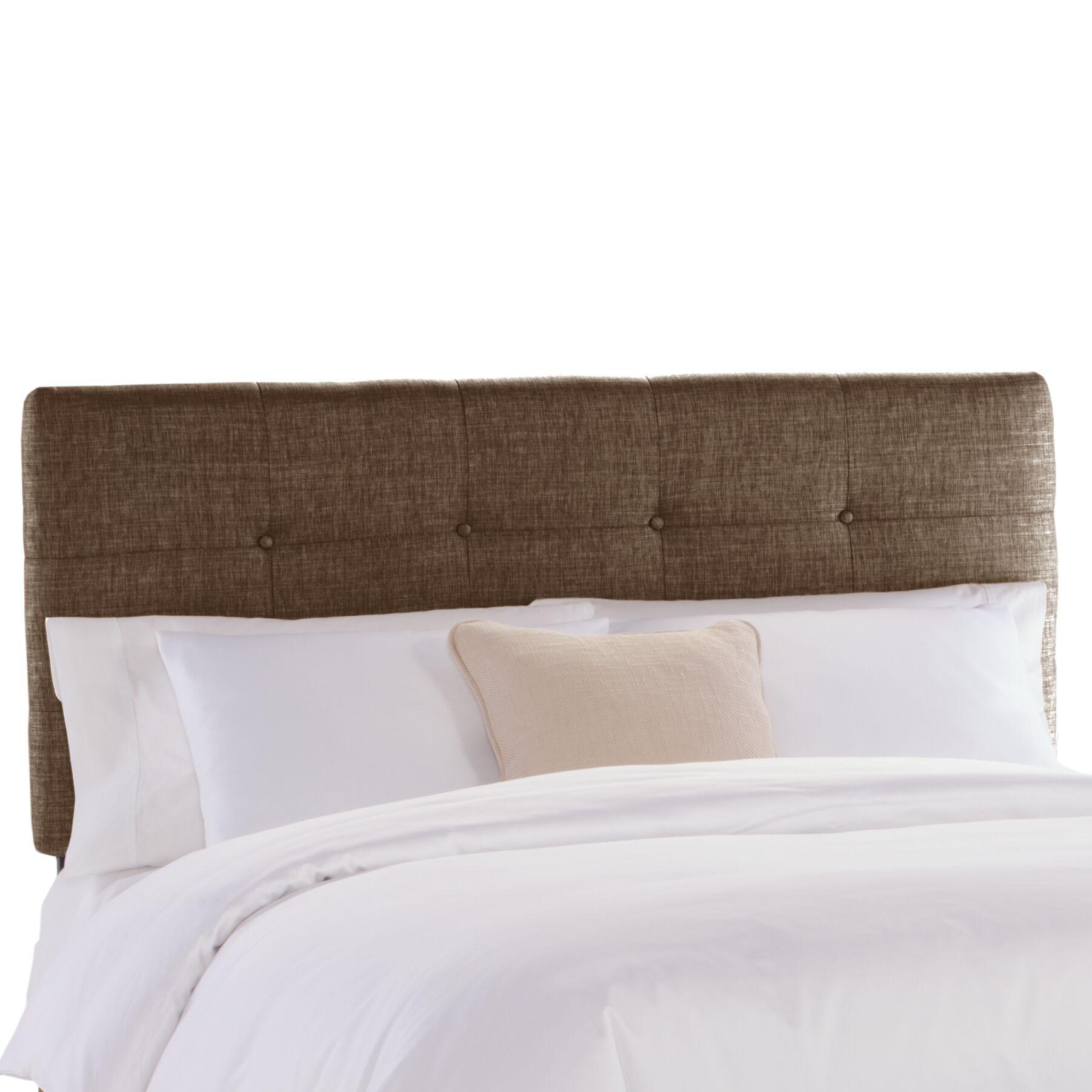 Tufted Upholstered Panel Headboard Size: King, Upholstery: Groupie Praline