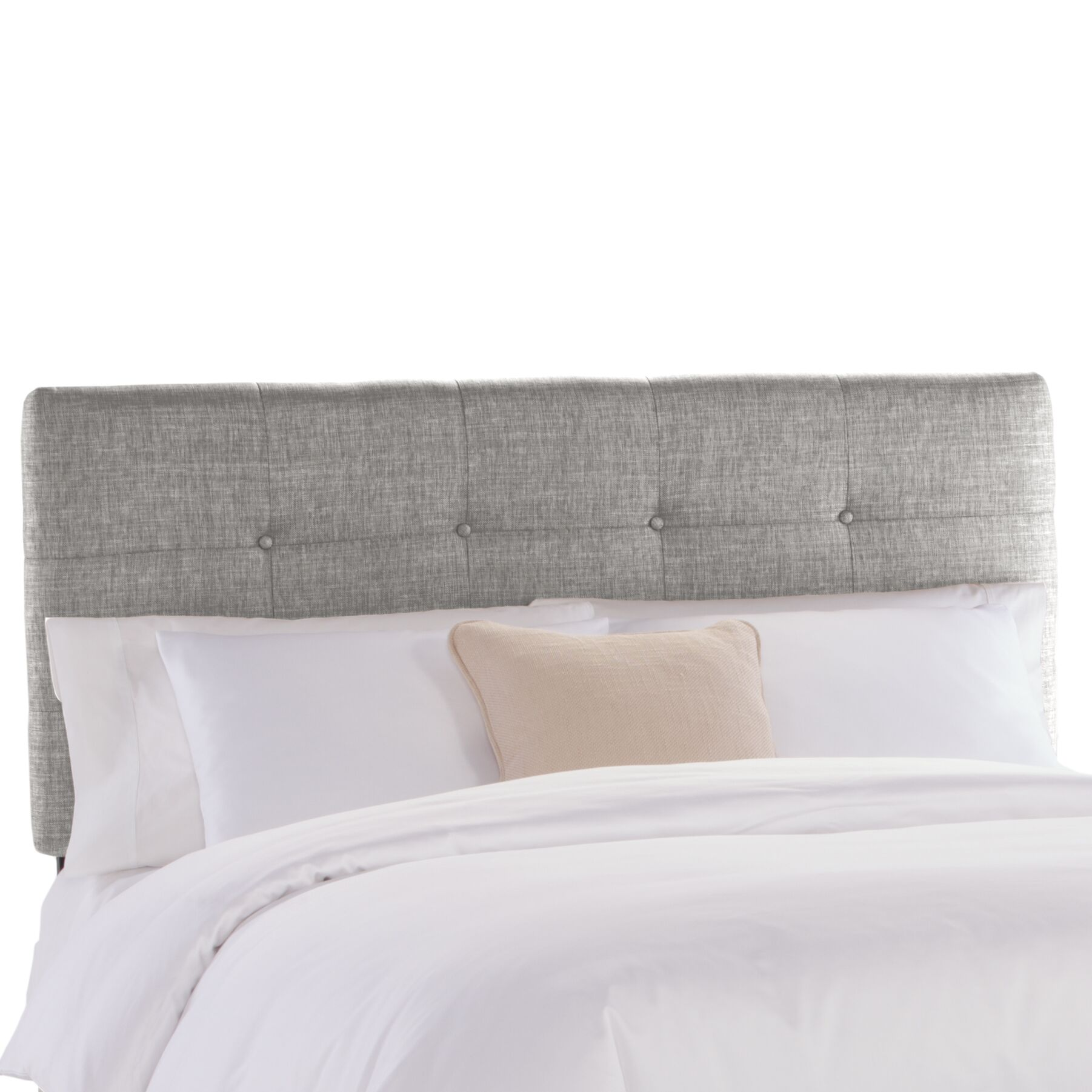 Tufted Upholstered Panel Headboard Size: King, Upholstery: Groupie Pewter