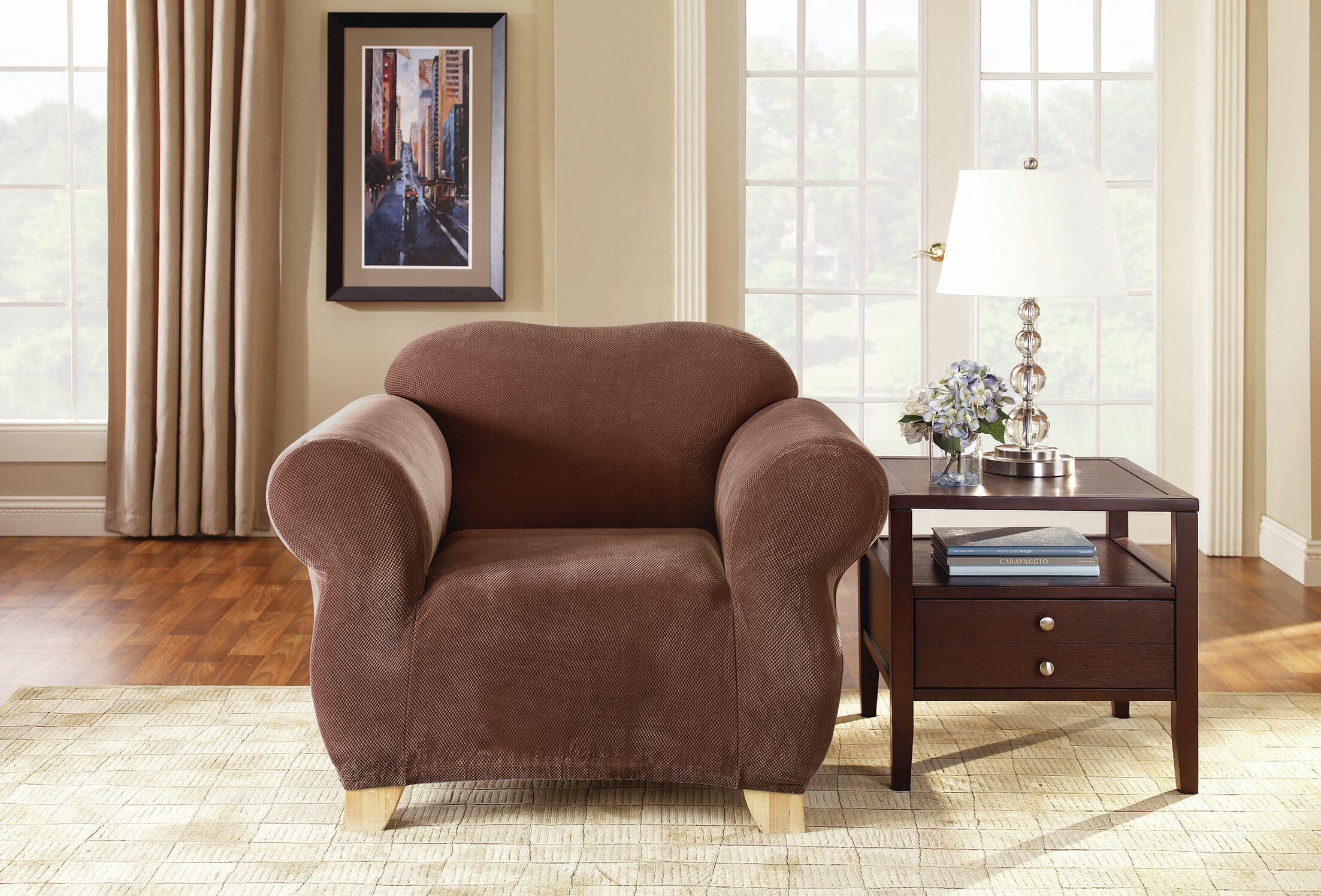 Pique Separate Seat Box Cushion Armchair Slipcover