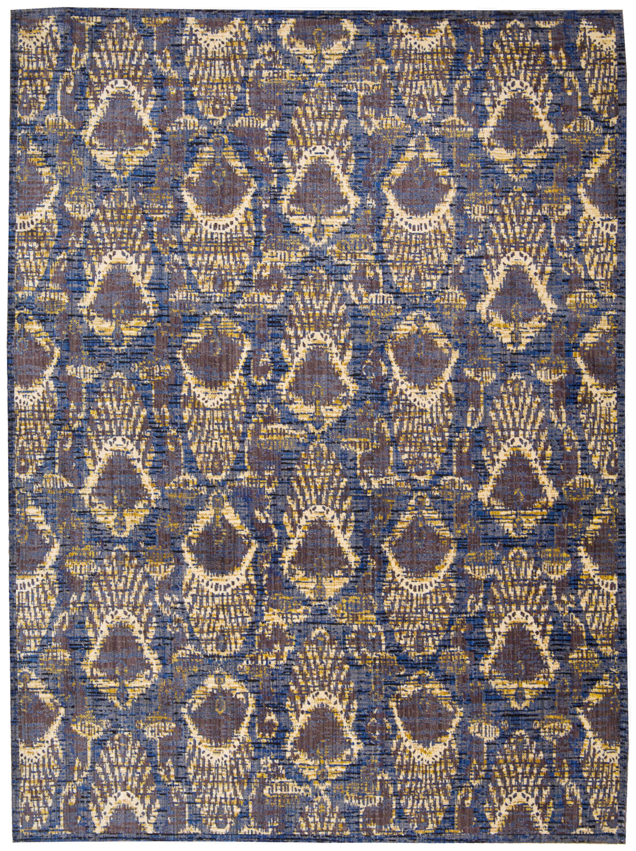 Moroccan Indigo Area Rug Rug Size: Rectangle 7'3
