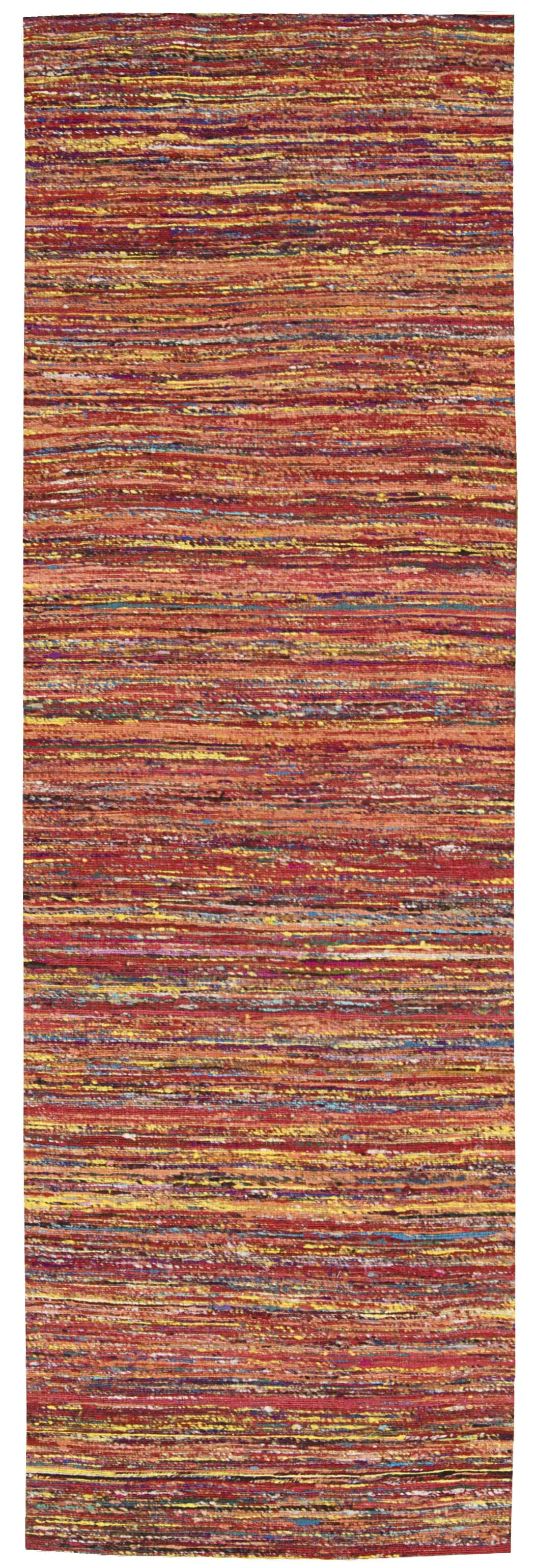 Zahra Hand-Woven Red Area Rug Rug Size: Runner 2'3