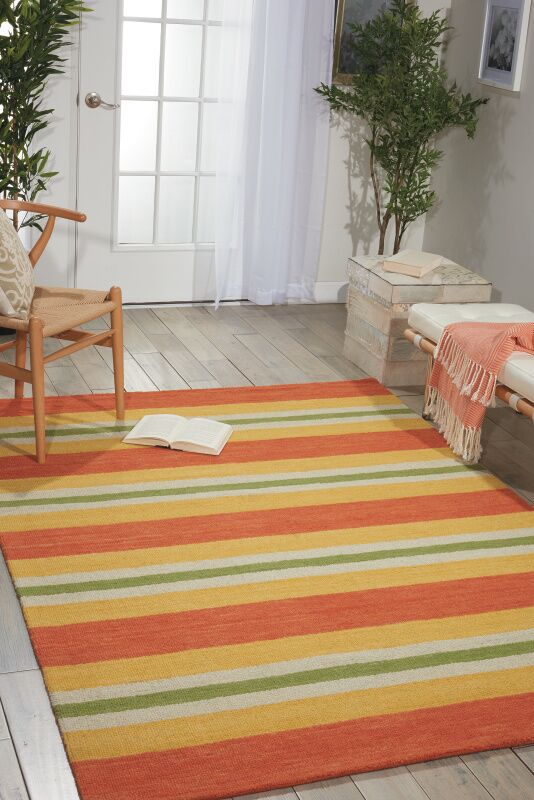 Oxford Handmade Orange/Yellow Area Rug Rug Size: Rectangle 7'9