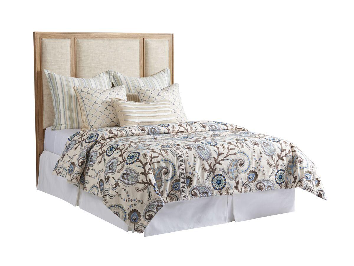 Newport Upholstered Panel Headboard Size: King, Color: Sandstone