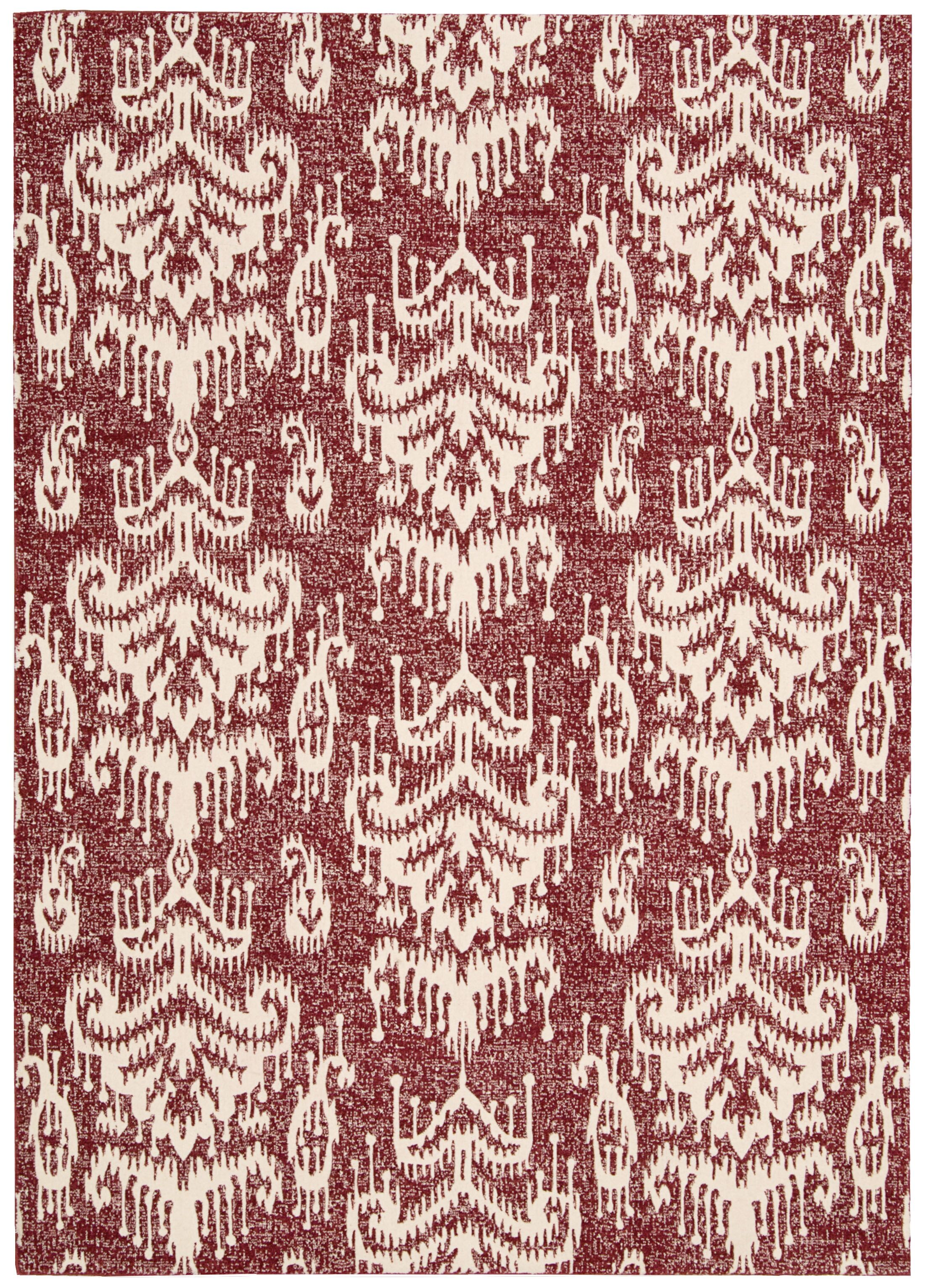 Kaleidoscope White/Crimson Area Rug Rug Size: Rectangle 5'3