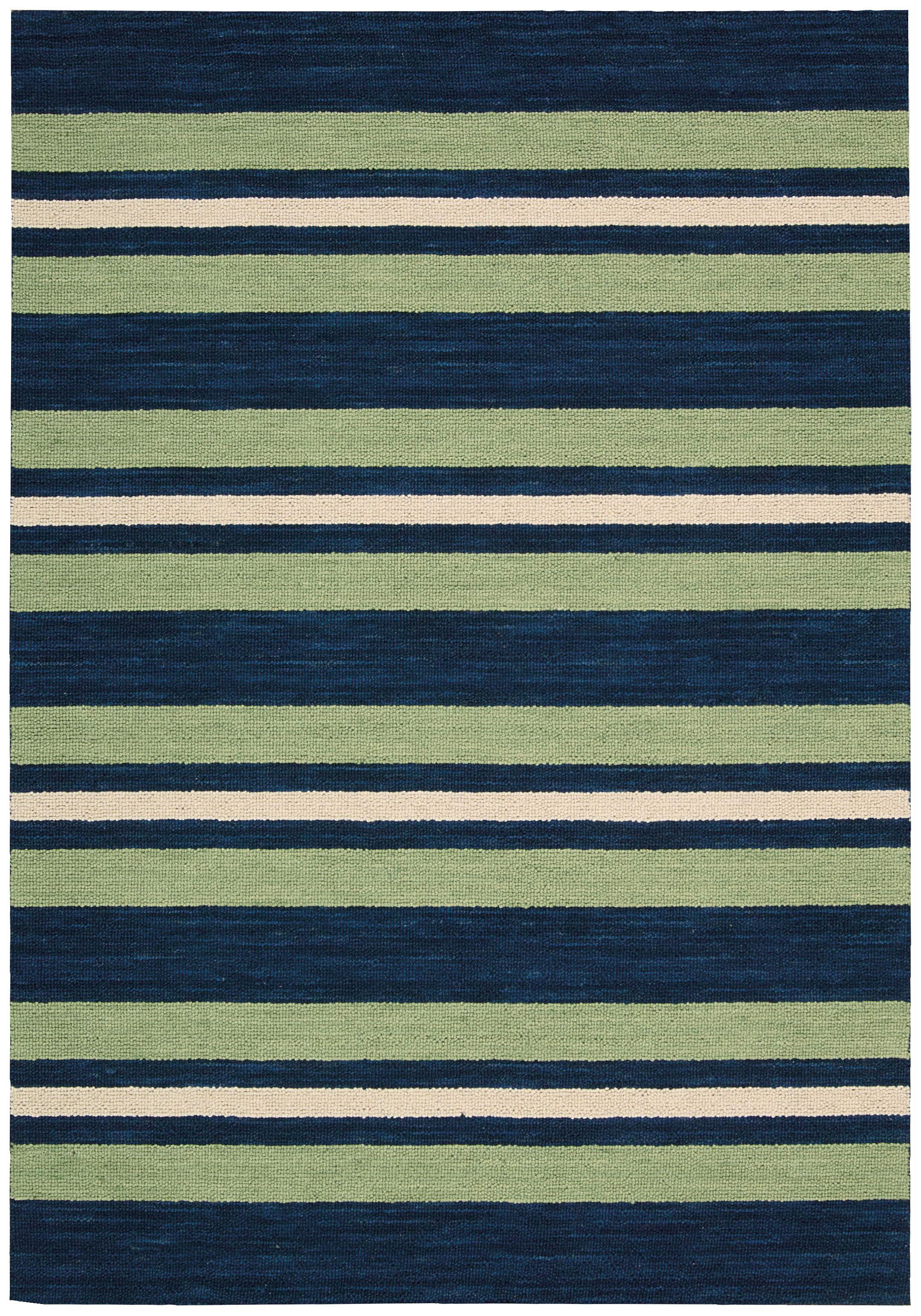 Oxford Handmade Green/Blue Area Rug Rug Size: Runner 2'3