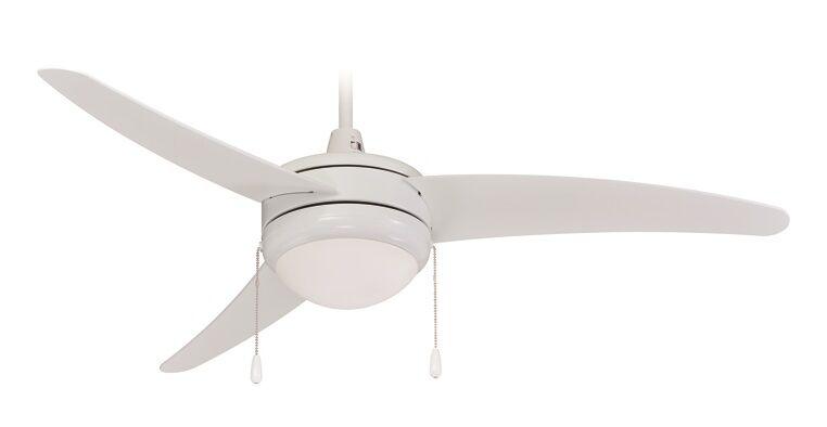 3-Blade Ceiling Fan Finish: White