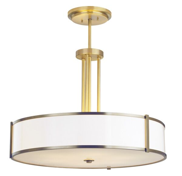 Hatbox Round Pendant Bulb Type: Incandescent, Size: 24