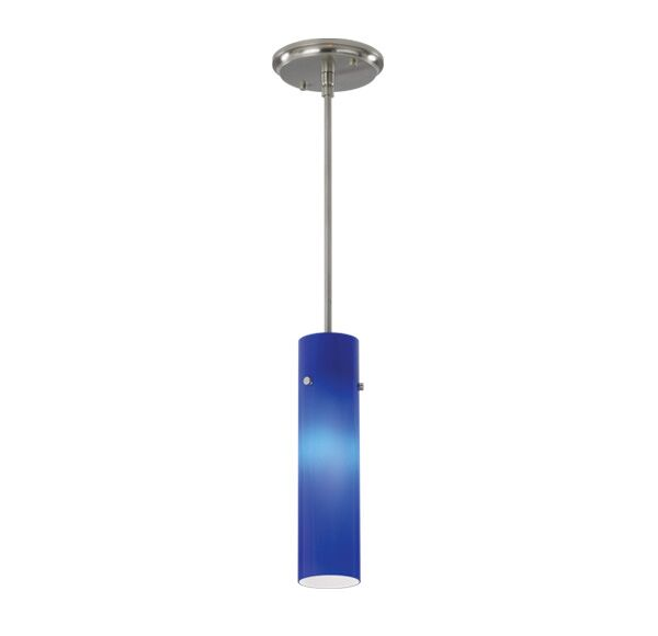 Popsicle 3 Pendant Shade Color: Cased Cobalt Glass, Finish: Brushed Nickel, Bulb Type: Incandescent