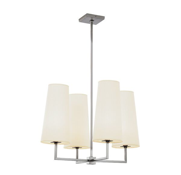 Temple Quad 4-Light Shaded Chandelier Finish: Polished Brass